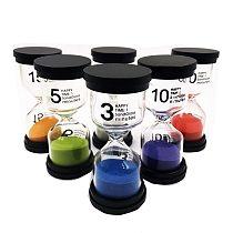 6Pcs Kid 6 Color Classroom Game Sand Clock Timer montessori Toys Hourglass Sandglass Home Decor toys for children dla dzieci #33