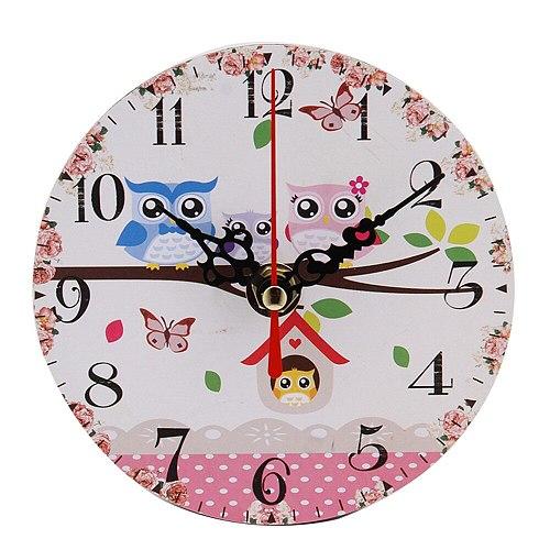Vintage Style Antique Wood Wall Clock Bedroom Decor Clock Retro Home Clock Decoration Analog Clock Настенные Часы Электроника