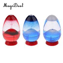 Volcano Eruption Egg Liquid Sandglass Hourglass Sand Timer Gadget Toy Home Decor Shelf Display Ornament Decoration