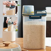 2.5L Kitchen Collection Rice Bucket Insect-Proof Moisture-Proof Sealed Rice Cylinder Grain Dog Food Household Storage Rice Box