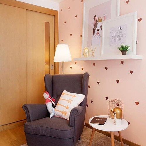 Personalized DIY Heart Wall Stickers Home Decoration For Kids Baby Rooms Bedroom Kitchen Art Mural Peel & Stick Vinyl Wallpaper
