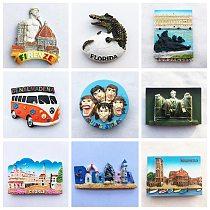 Spain Fridge Magnet Kenya Germany Singapore Island Murano Italy USA Bulgaria Tourist Souvenir Rolling Stone Magnetic Sticker