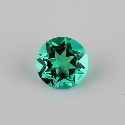 5mm-9.5mm Round Shape Lab Grown Emerald Columbia Green Color Loose Hydrothermal Emerald stone For Jewelry making