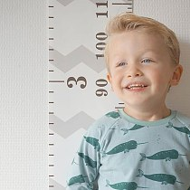Kids Meter Wall Chart Hanging Height Growth Measuring Ruler Baby Nursery Decor QX2E