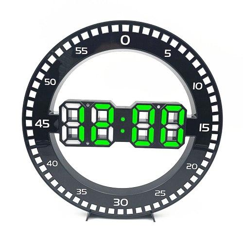 Digital Wall Clock 3D LED Alarm Date Temperature Nightlight Table Desk Watch Home Decorate Hang Electronic Clocks Alarm Clocks