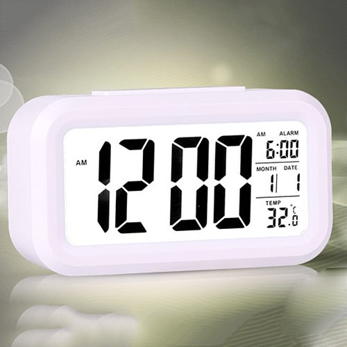 Electric Desktop Table Clock Electronic Alarm Digital Big LED Screen Desk Clock Data Time Calendar Desk Watch