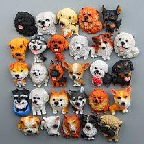 Cute world famous dog hutchiskoki Bulldog model hand made fridge magnets refrigerator stickers doll magnetic stickers room decor
