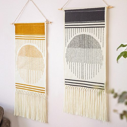 Nordic Handmade Tapestry Cartoon Bedroom Wall Art Cotton Linen Background Decor Wall Hanging Decorative Boho Muslim Tapestries