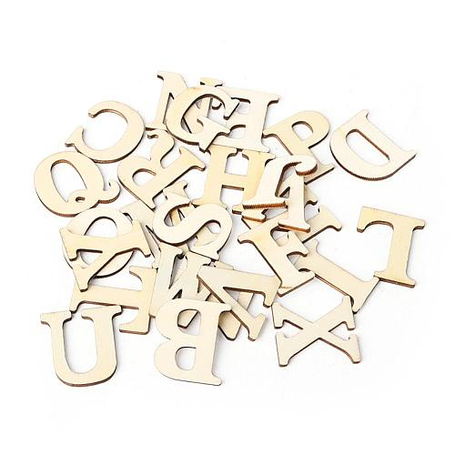 26 English Alphabet Letters Wood Number Wooden DIY Handcraft Household Decorative Photography Props