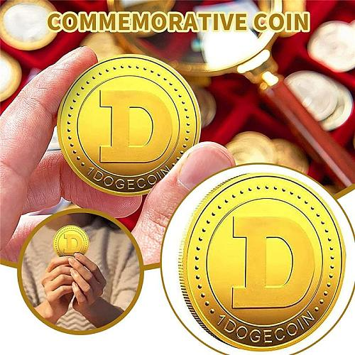 Shiba Inu Doge Commemorative Coin Metal Badge Souvenir Gold-plated Three-dimensional Relief Collectible Non-currency Coins