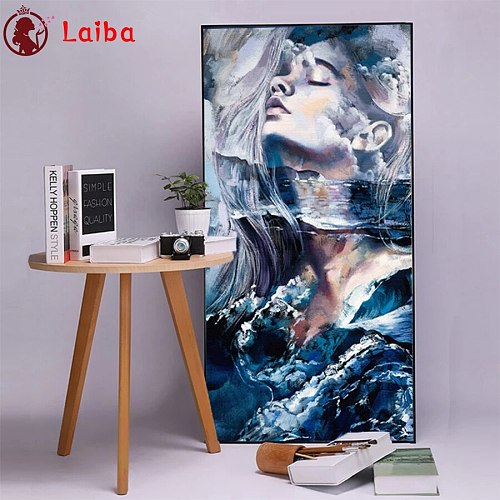 Diamond Mosaic Abstract fantasy watercolor woman Picture Of Diamond Painting Cross Stitch Embroidery Needlework Wall Art