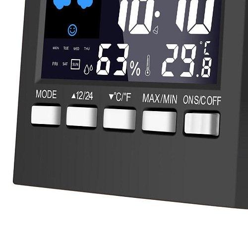 LED Digital Alarm Clock LCD Screen Sound Control Backlight Digital Clock Date Time Calendar TemperatureDesk Watch