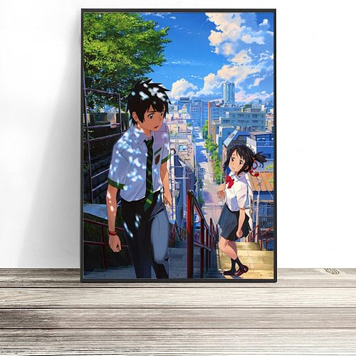 5D Diamond Painting Anime Your Name Map Mosaic Wall Art Diamond Embroidery Painted Poster Cross Stitch Kit Home Decoration Gift