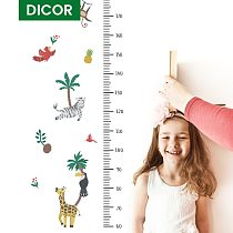 Height Measure Wall Stickers for Kids Rooms Cartoon Animals Growth Chart Nursery Room Decor Wall Art Home Decoration Accessories