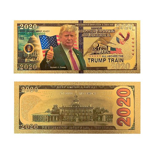 4pcs US Donald Trump Commemorative Coin President Banknote Non-currency 2020