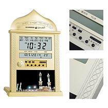 1 Pc Azan Mosque Prayer Clock Islamic Mosque Calendar Muslim Prayer Wall Clock Alarm Ramadan Pray Time Muslim Wall Clocks