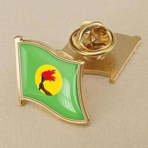 Coat of Arms of Zaire Zairian Map Flag National Emblem Brooch Badges Lapel Pins