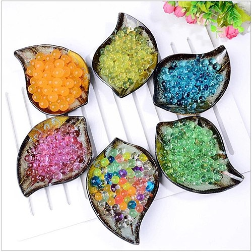 Colorful Pearl Gel Ball Polymer Hydrogel Potted Crystal Mud Soil Water Beads Grow Magic Jelly Wedding