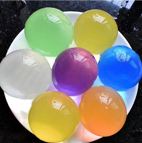 5 PCS/Bag Hydrogel Pearl Shaped Crystal Soil Water Beads Gel Ball For Flower/Weeding Mud Growing Balls Bedroom Desktop Decor