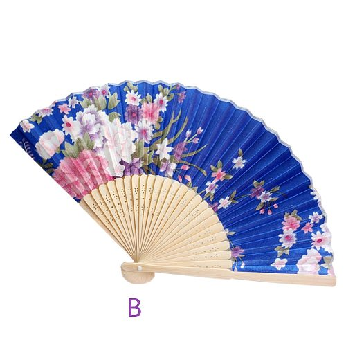 Summer Vintage Bamboo Folding Hand Held Flower Fan Chinese Style Dance Party Pocket Gifts Wedding Colorful Decoration #W3