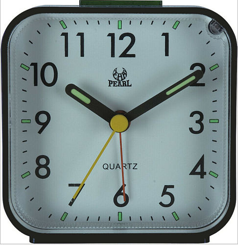 Travel Alarm Clock Analog Alarm Silent Non Ticking Ascending Beep Sounds Silent No Ticking Lighted on Demand Snooze Gentle Wake