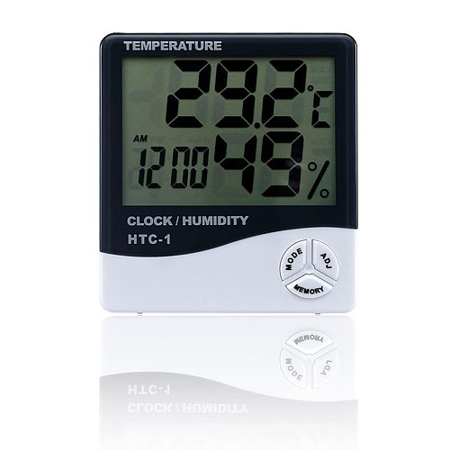 Digital LCD Thermometer Hygrometer Humidity Meter Room Indoor Temperature Clock Digital Thermometer Mini LCD Display Thermometer