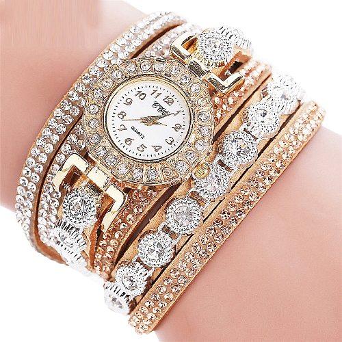 Ccq Women Fashion Casual Analog Quartz Women Rhinestone Watch Bracelet Watch Ladies Girl Luxury Watch Bracelet 2020 Clock