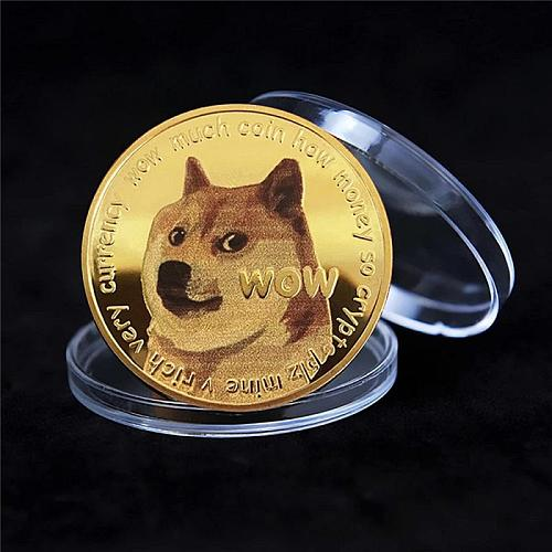 Shiba Inu Doge Commemorative Coin Collectible Souvenir Three-dimensional Relief Medallion Gold-plated Non-currency Coin