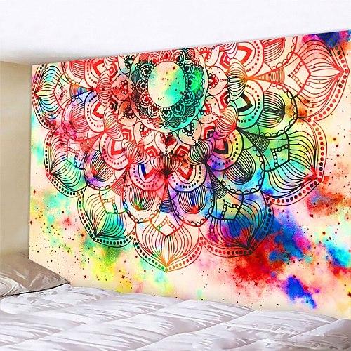 Beautiful Mandala fantasy scene home decoration tapestry Hippie Bohemia wall decoration bedroom sheet yoga mat