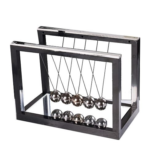 Newton Desk Table Decor Metal Cradle Pendulum Ball Physics Science Pendulum Steel Balance Ball home office Decoration