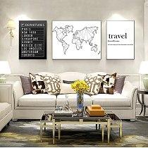 Prints , Travel Board Quotes Art Painting Pictures Honeymoon Travel Decoration Destination Boards Canvas