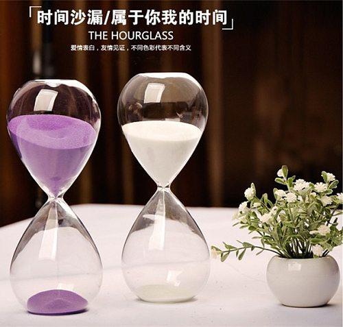 Glass Hourglass Sand Timer Clock Fashion Home Decor Birthday 5/15/30 Minute Love Valentine's Day Gift Ampulheta Reloj De Arena