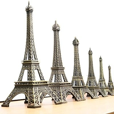 5cm 15cm 38cm Household Metal Crafts Vintage Bronze Paris Eiffel Tower Tour Statue Alloy Model Home Decor Travel Souvenirs Gifts