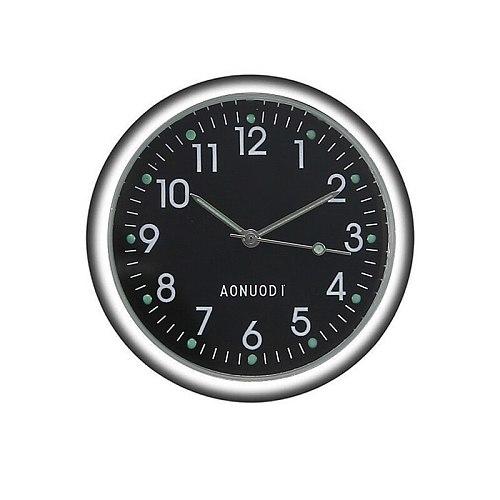 Mini Quartz Small Clock Luminous Analog Watch Car Stick On Clock 4*4cm with Double-Sided Adhesive Car Decorative Ornament Clock