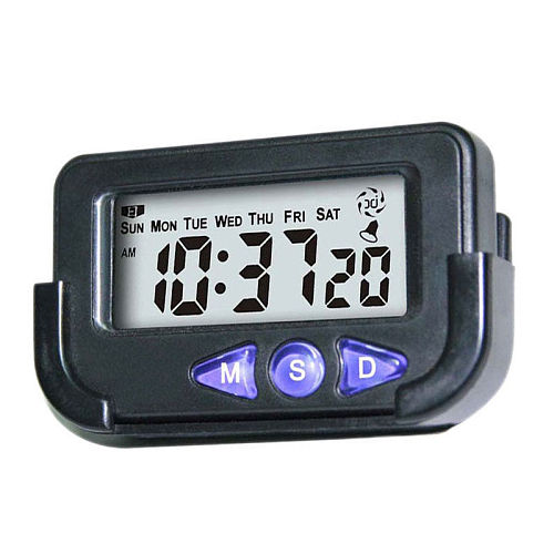 Mini Digital Car Electronic Travel Alarm Clock Time Date Automotive Stopwatch Mini Digital Car Electronic Travel Alarm Clock