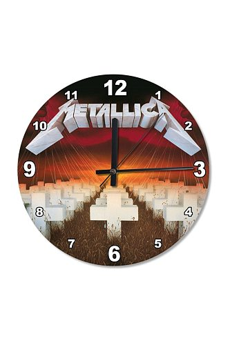 30 cm Diameter Rock Band Death Wooden Wall Clock Specialty Clock Home Decoration Gift Wall Clock Classy Stylish Clock