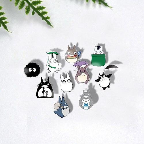 SIAN Classic Japan Cartoons Totoro Brooches Pins Acrylic Brooch Pin Handmade Art Photo Denim Collar Brooches Backpack Icon Badge