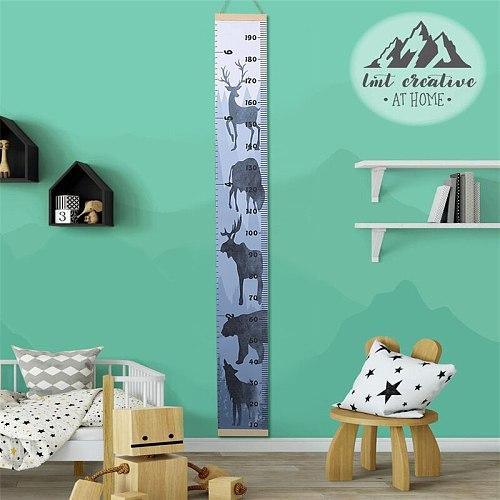 Hot Sale Nordic Children Height Ruler Hanging Canvas Growth Chart Kids Room Wall Decoration 2021