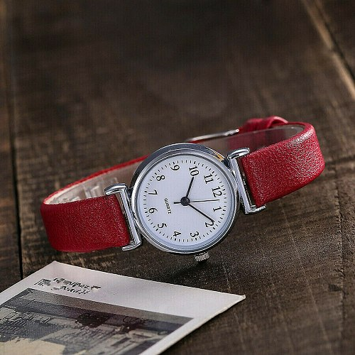 Classic Women's Watches Casual Quartz Leather Strap Band Watch Round Analog Clock Wrist Watches