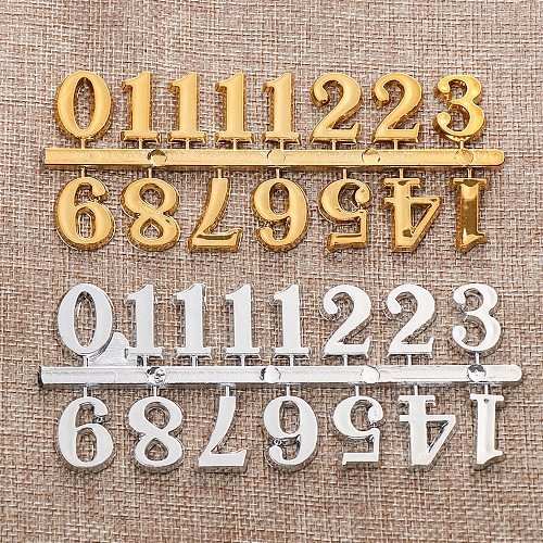 1 Set Digital Replacement Gadget Arabic Number Roman Numerals Restore Quartz Clock Parts DIY Clock Numerals Accessories