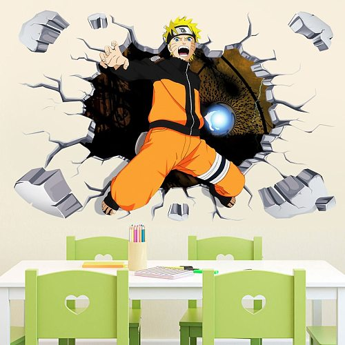 60x90cm Anime saskue Wall Stickers Poster Shippuden Stickers Collection Decoration Kids Room Home boys Room Decor
