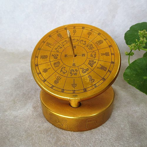 Pure light sundial sundial compass measuring height of the sun guide to ancient chronometer feng shui ornaments.