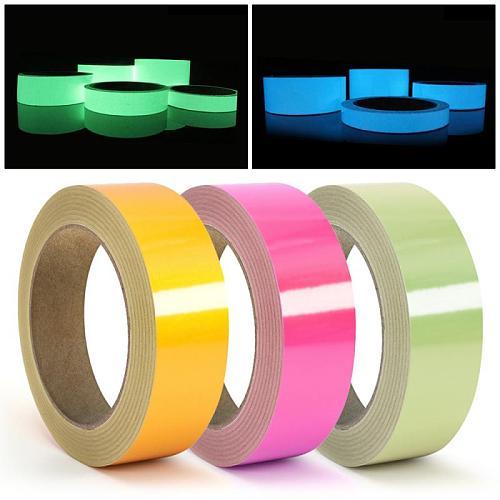 1.5cm*3m Luminous Fluorescent Night Self-adhesive Glow In The Dark Sticker Tape Safety Home Decoration Warning Tape
