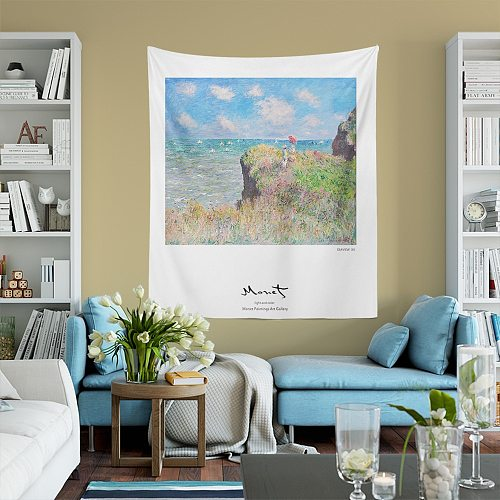 Monet Scenic Painting Tapestry Wall Hanging Pattern Tapestry Abstract Painting Art Wall Hanging Blanket Livingroom Decor Crafts