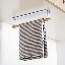 Kitchen Roll Paper Holder Towel Storage Rack Tissue Hanger Cabinet Hanging Shelf Black and White Colors Optional 2021 New