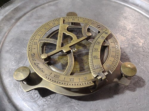 [MGT] Christmas Medieval ornaments folding sundial copper decorative nautical compass Halloween