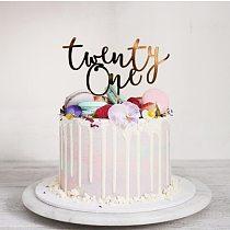 Twenty One Happy Birthday Acrylic Cake Topper Letters Number 21 Acrylic Cupcake Topper For 21st Birthday Party Cake Decorations