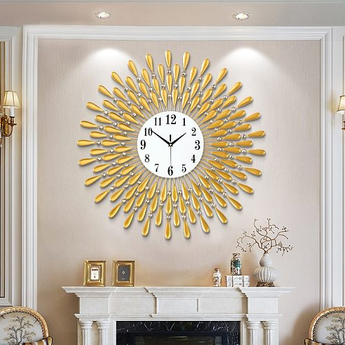 Crystal Sun Modern Style Silent Wall Clock 38X38cm, 2020 New Product Living Room Office Home Wall Decoration