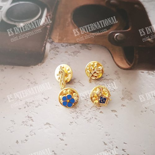 One Set of 4 PCS Mini Masonic Lapel Pins Badge Mason Freemason   FORGET ME NOT