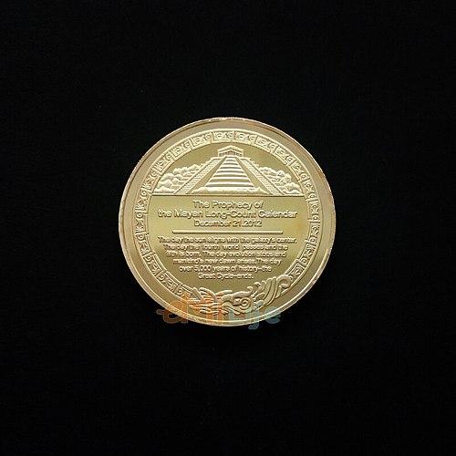 Mayan commemorative coin pyramid sundial gold decoration Creative Souvenir Plated Collectible Gift Bit Art pk bit eth doge coin